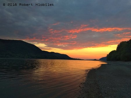 Západ slunce na Dunaji