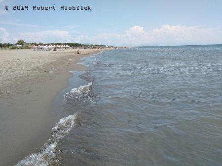 Velka Plaža, 10km dlouhá písečná pláž u Albánských hranic