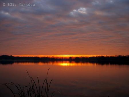 Západ slunce prosinec 2015