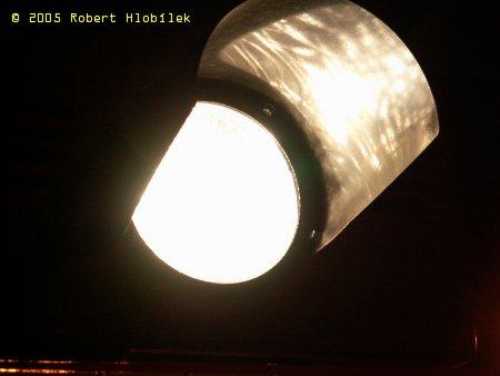 Světlo na železničním přejezdu