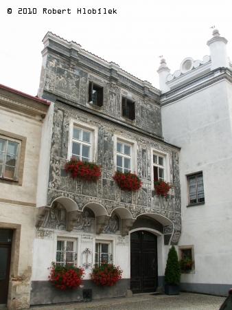 Slavonice - malované domečky (sgrafita)