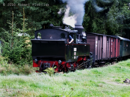 Parní mašinka úzkorozchodné železnice