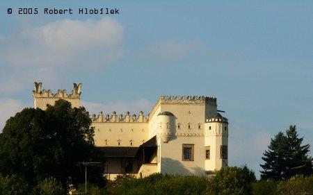 Pohled na zámek z hlavní silnice