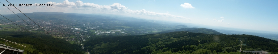 Pohled z Ještědu na Liberec