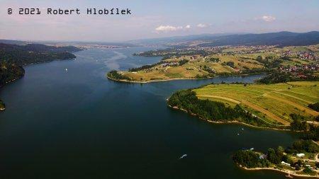 Czorsztyňské jezero na řece Dunajec