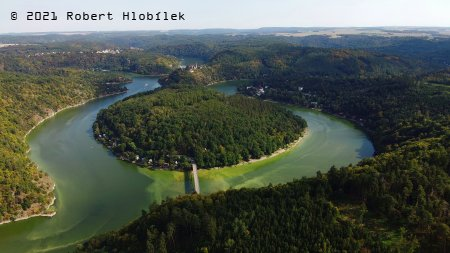 Vranovská přehrada z dronu
