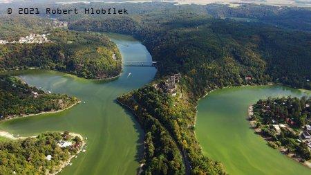 Zřícenina hradu Cornštejn z dronu