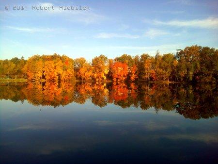 Podzimní barvy na nádrži Košice