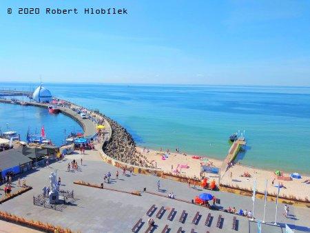 Hel - přístav a pláž