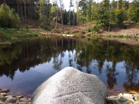 kaskády rybníků podél naučné stezky Ďáblova prdel