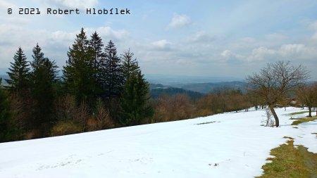 Vizovické vrchy, výhled od sv. Huberta.