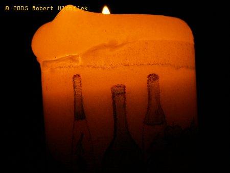 Svíčka s potiskem