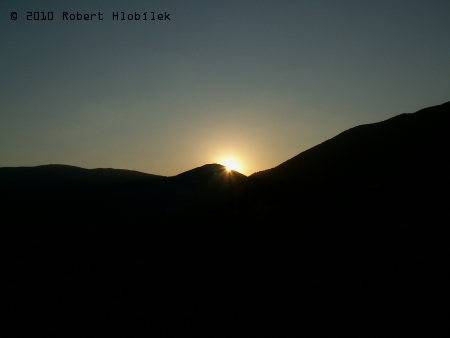Západ slunce na Malé Fatře