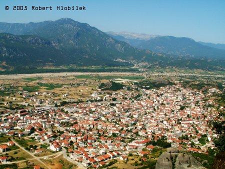 Pohled na městečko pod kláštery