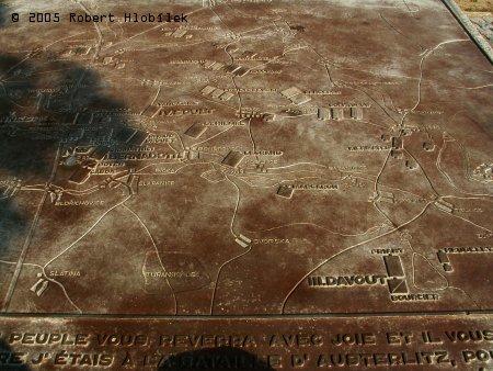 Pozorovací stanoviště Žuráň - plastická mapa