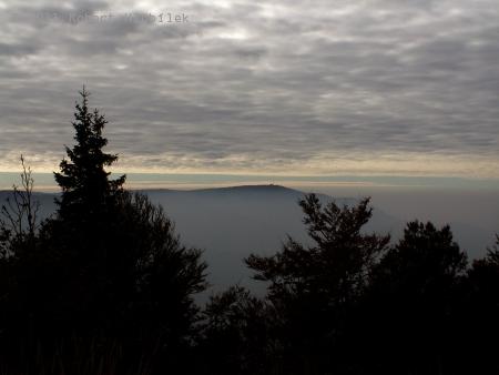 Výhled ze Skalky na Lysou