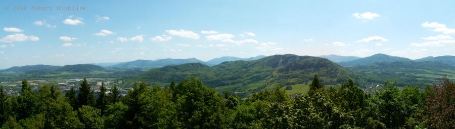 Panorama z rozhledny Bílá hora