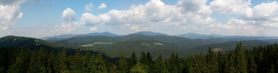 Panorama z rozhledny Súkenická